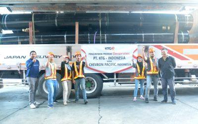 KTG Indonesia Resmikan Pelepasan Kiriman Perdana Geomembrane untuk Chevron Pacific Indonesia